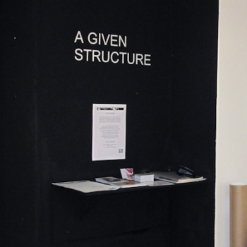 Group show: A Given Structure, Fringe Arts Bath, May 2014