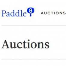 Auction: Paddle8 online benefit auction, November 2014